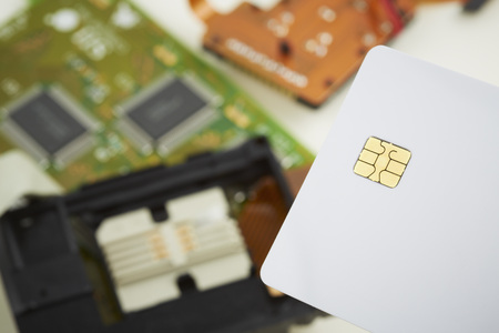 Close Up Of Chip Card
