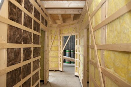 Europe,Germany,Rhineland Palatinate,Interior Construction With Thermal Felt Insulation