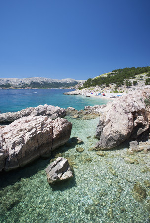 Croatia, View Of Beach At Baska LANG_EVOIMAGES