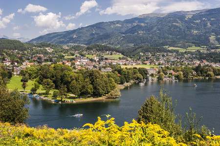Austria, Carinthia, View Of Millstatter See And Seeboden LANG_EVOIMAGES