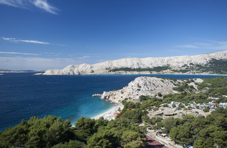 Croatia, View Of Bunculuka Beach At Krk Island