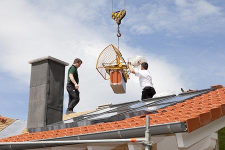 Europe, Germany, Rhineland Palatinate, Construction Of House Roof LANG_EVOIMAGES