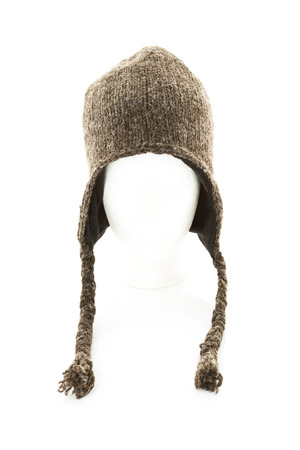Woolly Hat On White Background,Close Up LANG_EVOIMAGES