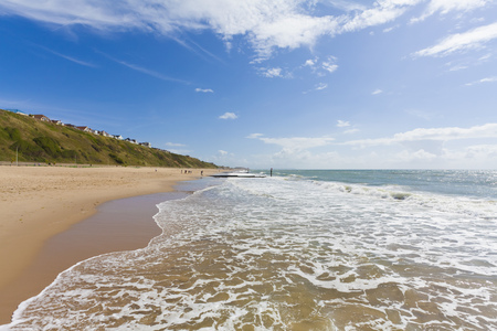 England, View Of Beach At Bournemouth LANG_EVOIMAGES