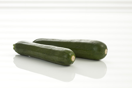 Zucchini On White Background, Close Up