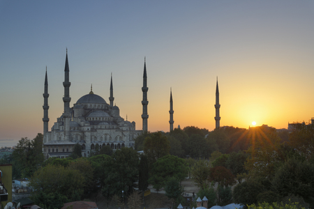 Turkey,Istanbul,View Of Sultan Ahmed Mosque At Sultanahmet District LANG_EVOIMAGES