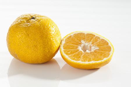 Ugli Fruit On White Background,Close Up