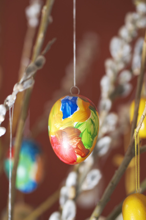 Hanging Eastereggs,Close Up