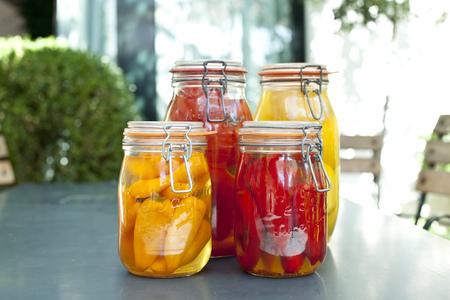 Germany,Duesseldorf,Pickles And  Vegetables In Glass Jar LANG_EVOIMAGES