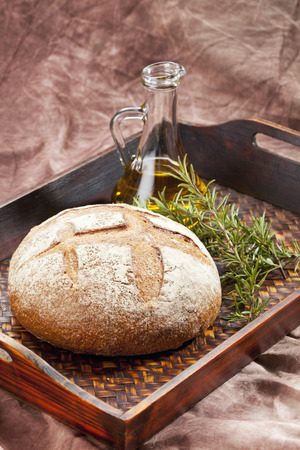 Tuscany Bread With Rosemary And Olive Oil,Close Up