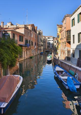 Italy,Venice,Sleepy Canal In Dorsoduro