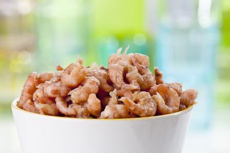 North Sea Shrimps In Bowl,Close Up