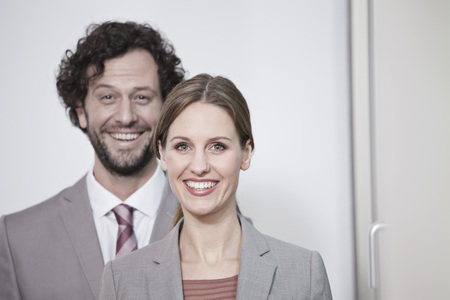 Germany,North Rhine Westphalia,Cologne,Portrait Of Businesscouple,Smiling