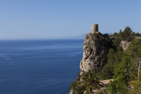 Spain,Mallorca,View of Torre de Ses Animes tower at Balearic Islands LANG_EVOIMAGES