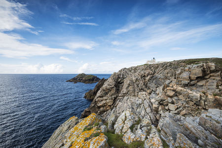 United Kingdom,Scotland,Lighthouse in front of North Sea