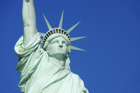USA,New York State,New York City, View of Statue of Liberty at Liberty Island,close up LANG_EVOIMAGES