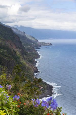 Portugal,Cliffs of Madeira at Arco de Sao Jorge
