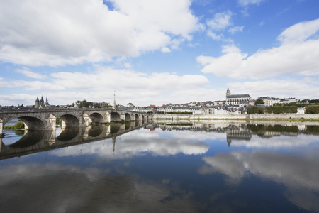 France,View of Jacques Gabriel bridge and Saint Louis cathedral LANG_EVOIMAGES