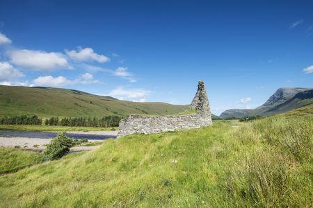 United Kingom,Scotland,View of  Dun Dornaigil Broch in north scotland