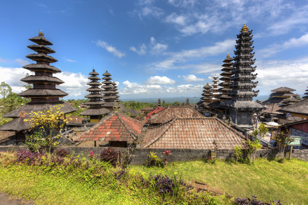Indonesia,View of Pura Penataran Agung temple
