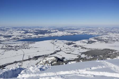 Germany,Bavaria,View of Lake Forggensee