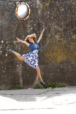 Greece,Young woman dancing