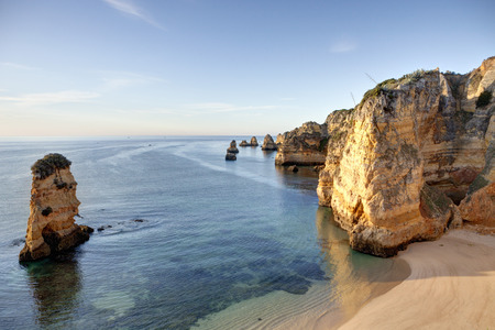 Portugal,View of coast at beach LANG_EVOIMAGES