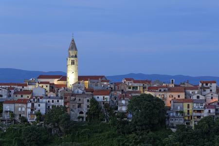 Croatia,Krk,View of old town of Vrbnik LANG_EVOIMAGES