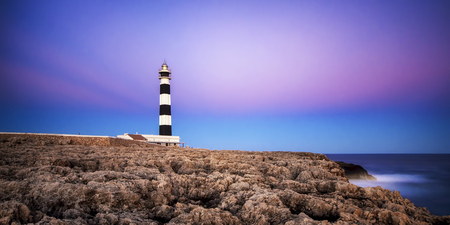 Spain,Menorca,View of lighthouse LANG_EVOIMAGES