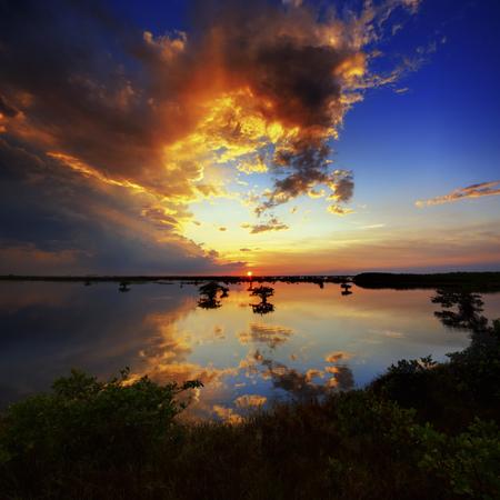 USA,Florida,Titusville,View of sunset