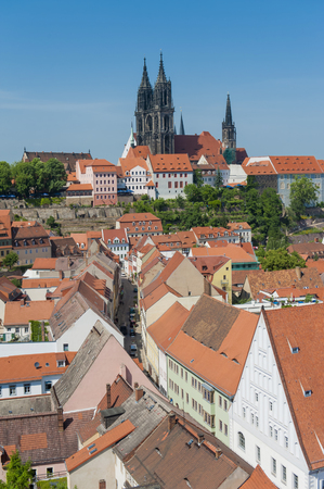 Germany,Saxony,View of Meissen old town