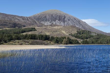 United Kingdom,Scotland,Isle of Skye,View of Beinn na Caillich hill