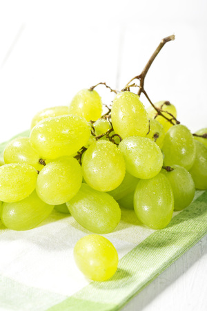 Bunch of grapes on napkin,close up