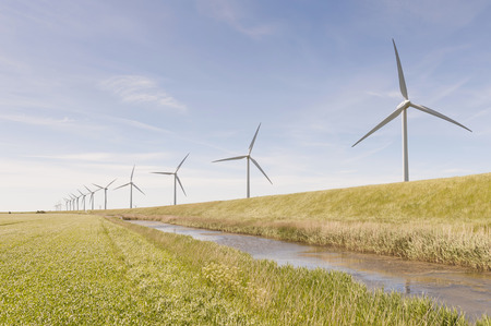 Germany,Schleswig-Holstein,View of wind turbine in fields LANG_EVOIMAGES