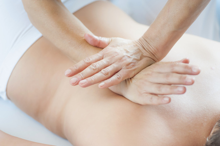 Traditional Chinese Medicine,TCM,female therapist during Tuina massage