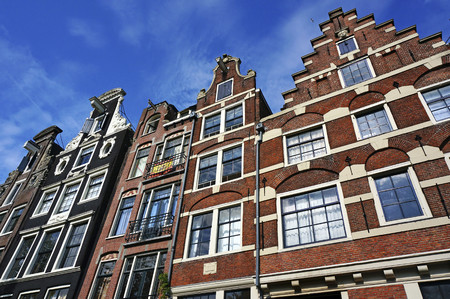 Netherlands,Amsterdam,Prinsengracht,typical historic buildings LANG_EVOIMAGES