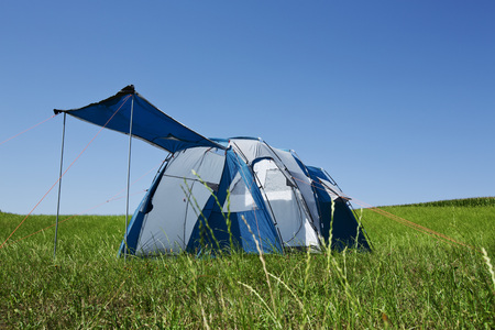 Germany,Bavaria,View of tent on grass LANG_EVOIMAGES