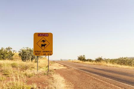 Australia,Western Australia,Road sign at Wyndham LANG_EVOIMAGES