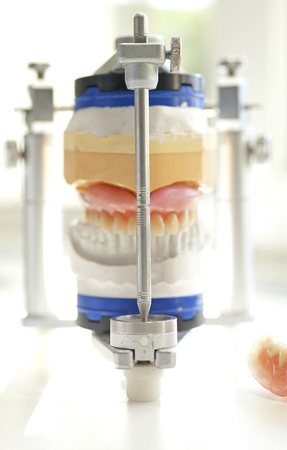 Germany,Freiburg,Articulator on white table,close up LANG_EVOIMAGES