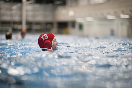 Water polo player in water LANG_EVOIMAGES