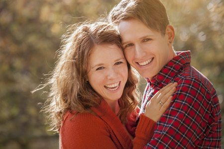 Portrait of happy young couple,close-up