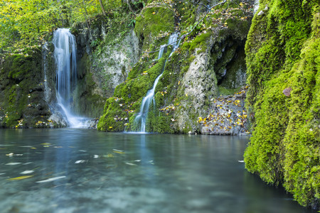 Germany,Baden-Wuerttemberg,Maisental with Gueterstein waterfalls