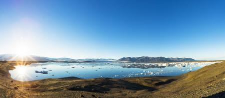 Iceland,Austurland,Jokulsarlon Glacial Lagoon near Vatnajokull National Park
