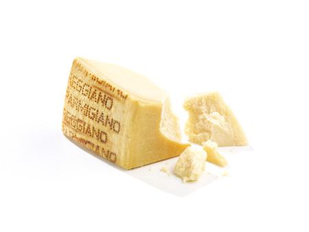 Pieces of parmesan cheese,studio shot LANG_EVOIMAGES
