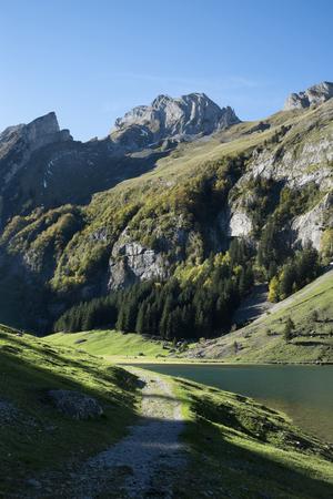 Switzerland,Canton Appenzell Innerrhoden,Seealpsee in autumn