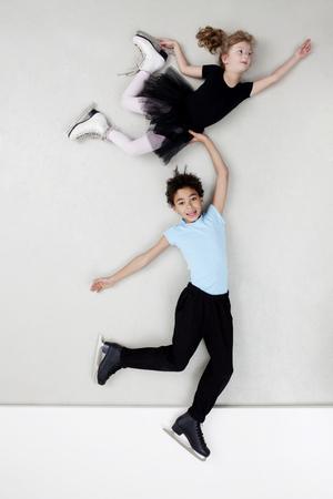 Figure skating boy and girl