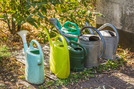 Variation of watering cans
