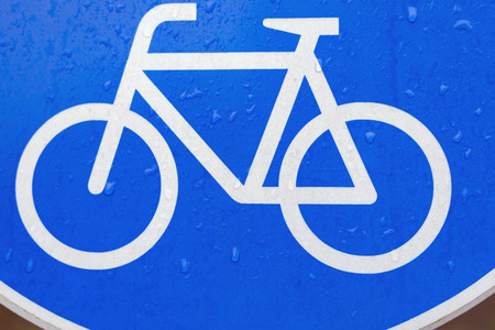 Germany,Aachen,road sign for cyclists