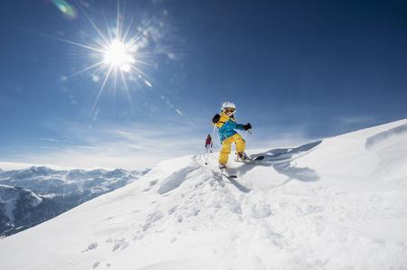 Austria,Salzburg Country,Altenmarkt-Zauchensee,Family skiing in mountains LANG_EVOIMAGES