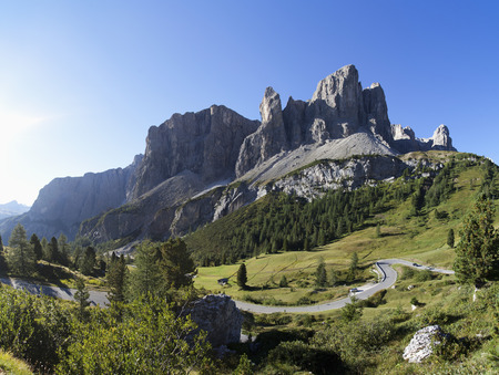 Italy,South Tyrol,Gardena Pass and Sella Group LANG_EVOIMAGES
